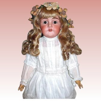 Beautiful Large Dep. Kestner Doll ~ Perfect Head ~ Rare 1903 Body ~ White Lawn Dress
