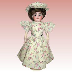 "Beautiful English Garden Cotton Dress w Hat for 14"" - 16"" Doll"
