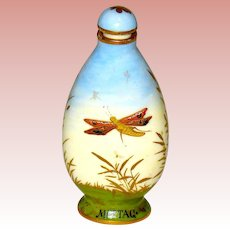 19th Century Viennese Scent Bottle - Nature Scenes of Day and Night
