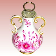 Meissen Indian Purple Gilt Scent Bottle, All Original and Perfect