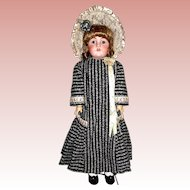 Hand Sewn Vintage Dress for a Large Bisque Head German or French Doll ~ EXCELLENT