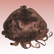 Beautiful Vintage Auburn Mohair Wig — Size 13-14""