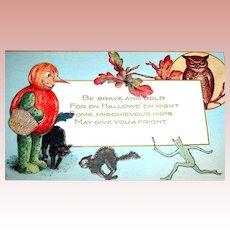 Great Halloween Postcard ~ Unused ~ Schmucker ~Whitney