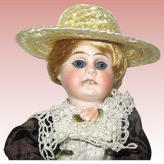 "German Bisque Head 8 1/2"" Doll on Original Composition Body"