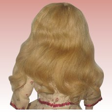"""Pretty Ginger Blonde Colored Mohair Hand Tied Wig Sz. 14""""-16"""""""