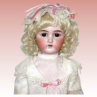"Rare German Heinreich Baetz 24"" Bisque Head Doll - Superb!"