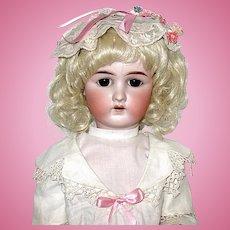 """Rare German Heinreich Baetz 24"""" Bisque Head Doll - Superb!"""