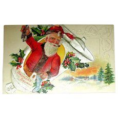 "Christmas Delight Postcard Series ~ Santa w ""Brother's Delight."""