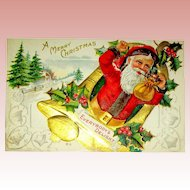 "Christmas Delight Postcard Series ~ Santa with ""Everyone's Delight"""