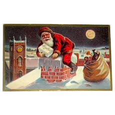 Rare Santa Claus 1900's Advertising Postcard ~ Huyler's Candy, New York City