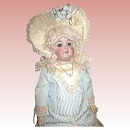 Beautiful 1880's Queen Louise Doll with Provenance, Elegant Couture French Costume