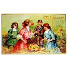 Antique Halloween Postcard ~ Tuck ~ Games ~ Unused