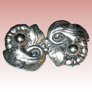 Fabulous Danish Arts & Crafts Sterling Silver Brooch ~ c. 1900 - 1925