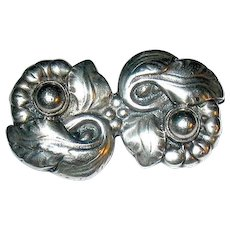 Fabulous Danish Arts & Crafts Sterling Silver Brooch ~ c. 1900 - 1925