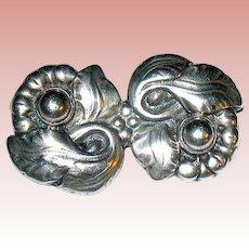 Fabulous Skonvirke Arts & Crafts Danish Sterling Silver Brooch