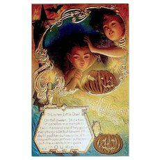 Nash Halloween Postcard - UNUSED - Great Graphics w Gold