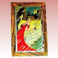 Pristine Unused Halloween Postcard H.M. Rose 1909 ~ Glamorous Lady