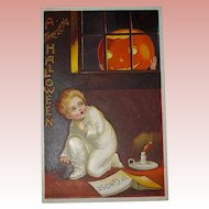"Unused Pristine Condition Clapsaddle Postcard - ""A Thrilling Halloween"" - 1909"