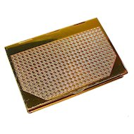 Coty Marked Figural Book Powder Compact
