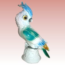 Beautiful German Figural Cockatoo Bird Perfume Lamp / Night Light