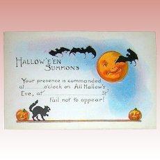 Exceptional Vintage Halloween Postcard Invitation ~ Excellent ~ Unused