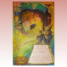"Super Nash ""O.U.KID"" Halloween Postcard ~ Witch w Advice"