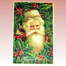 Great Santa Claus Face Portrait Postcard ~ GEL~ Gold ~ Series 294 (2 of 3)