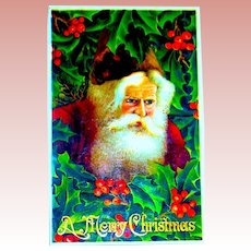 Exceptional GEL Santa Claus Face Postcard ~ Excellent ~ Series 294 (3 of 3)