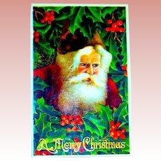 Exceptional GEL Santa Claus Face Postcard ~ Excellent ~ Series 294 (3 of 3)