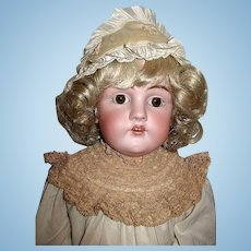 WOW!  Rare Body on this Kestner 28 in Doll ~ Lovely Designer Costume