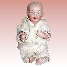 """Superb Kestner All Bisque 10"""" Baby Doll w Dome Head - PERFECT"""