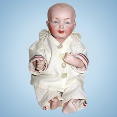 "Superb Kestner All Bisque 10"" Baby Doll w Dome Head - PERFECT"