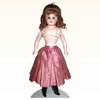 "Rare Simon & Halbig 12"" Fashion Doll - Original Lady Body -Closed Mouth - Designer Costume"