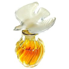 Vintage Nina Ricci Perfume in Satin Presentation Box, Bottle Marked Lalique