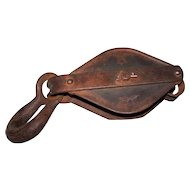 Anvil Iron Pulley #6 with Hook