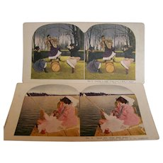 Stereoview Cards Set of 2  Ingersoll