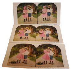 Stereo view Cards Set of 3 TW Ingersoll - Red Tag Sale Item