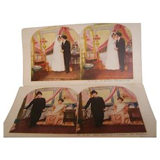 Stereoview Cards Set of 2 - Red Tag Sale Item