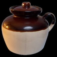USA Bean Pot Stoneware Crock Handle Lid