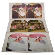 Stereo view Card set of 3