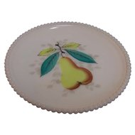 Westmoreland Milk Glass Beaded Salad Plate Pear
