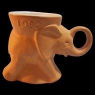 Frankoma Political GOP Elephant Mug 1980