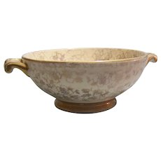 Homer Laughlin Eggshell Georgian Footed Soup Bowl Gold