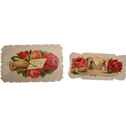 Victorian Calling Card Embossed set of 2