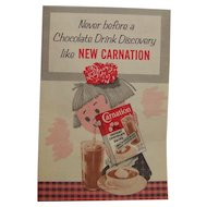 Carnation Advertising Litho Print Paper Pamphlet