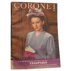 Coronet Magazine April 1945 - Red Tag Sale Item