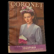 Coronet Magazine April 1945 - Red Tag Sale Item