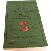 Singer Sewing Machine Manual Electric 201-2  1947