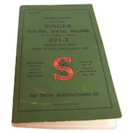 Singer Sewing Machine Manual Electric 201-2  1947