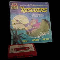 Disney Read-Along Book  The Rescuers with Tape